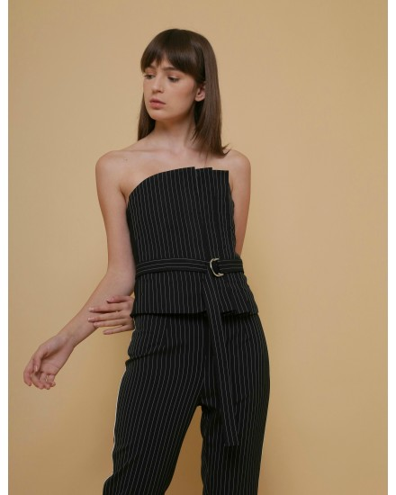 Inheritance Bustier in Pinstripe
