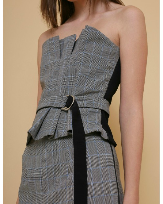 Inheritance Bustier in Plaid