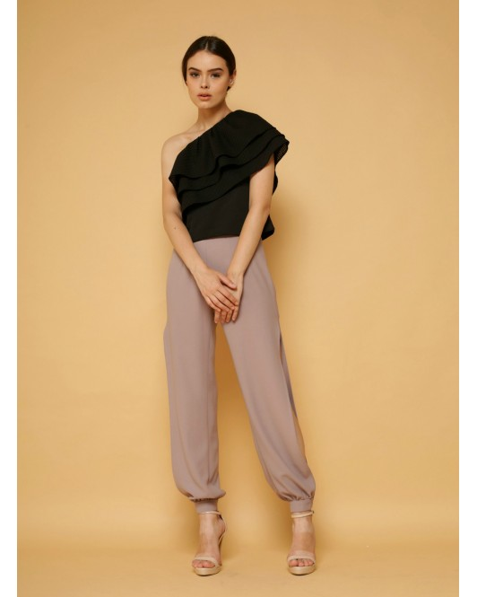 Illusion Pants in Taupe