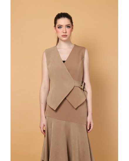 Congo Top in Beige