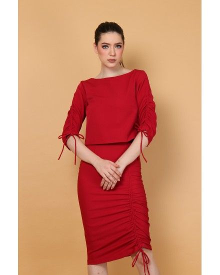 Cora Skirt in Red