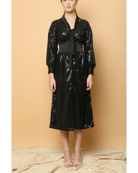Zane Sequin Midi Dress