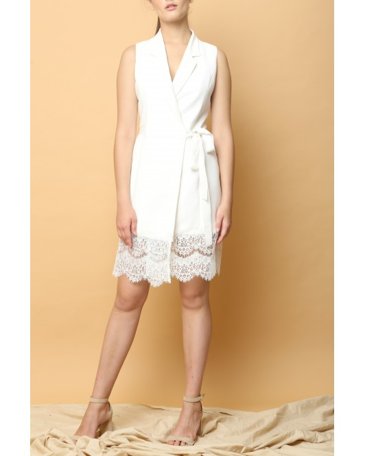Promise Wrap Dress in White
