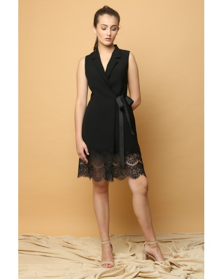 Promise Wrap Dress in Black