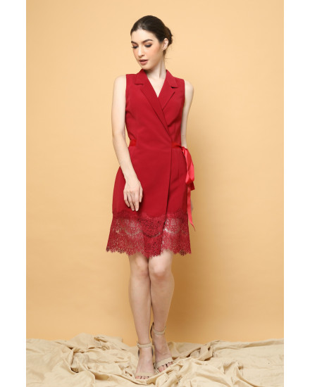 Promise Wrap Dress in Maroon