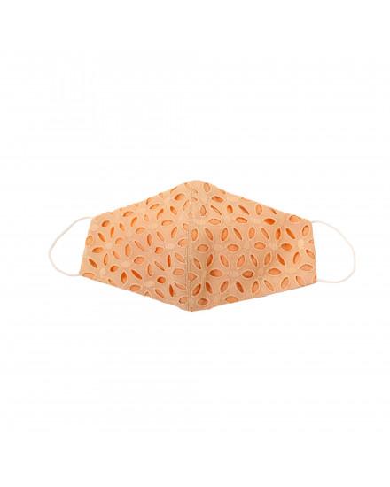 Cotton Eyelet Mask in Orange