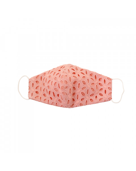Cotton Eyelet Mask in Pink