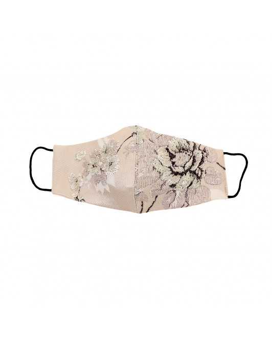 Jacquard Cotton Chinoiseries Mask in Sage