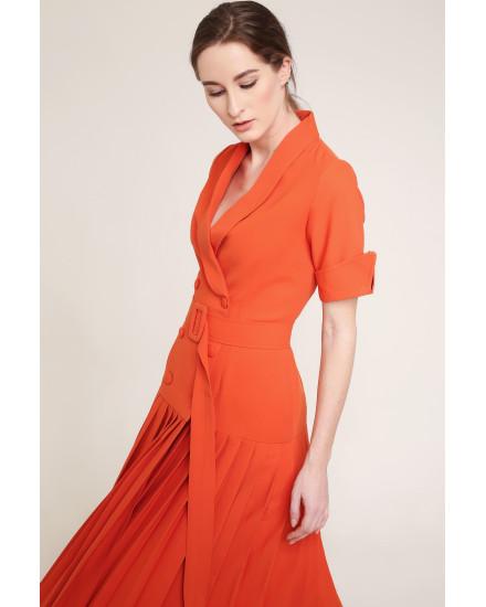 Marley Dress in Orange