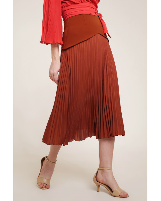 Constance Skirt in Brown