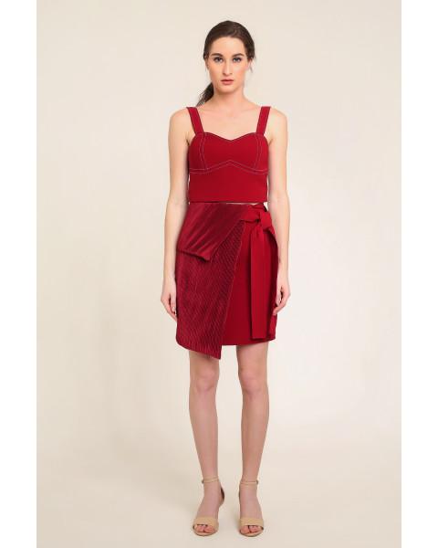 Calla Skirt in Maroon