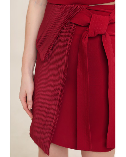 Calla Skirt in Maroon