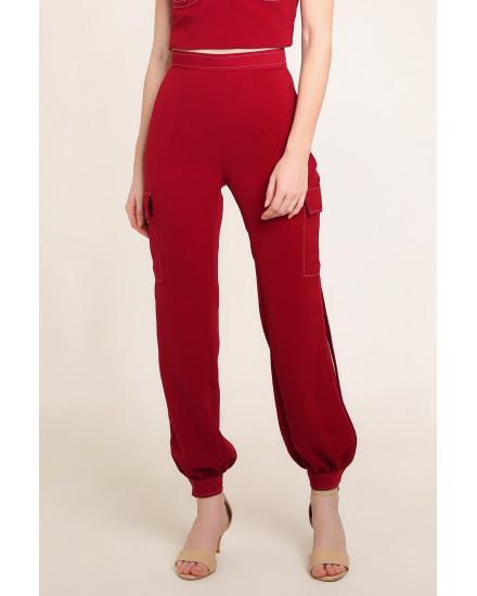Reba Pants in Maroon