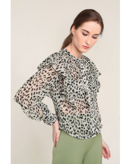 Marva Top in Green