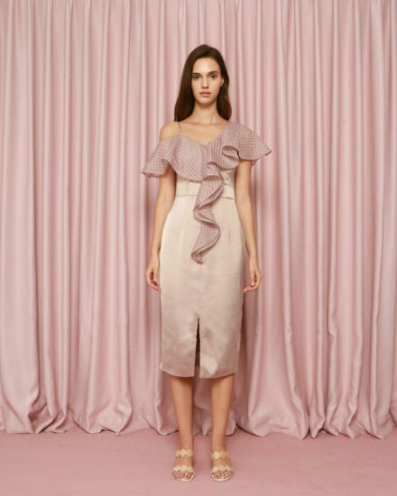 Epiphany Dress in Taupe