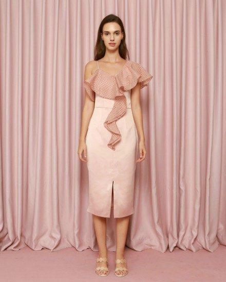 Epiphany Dress in Dusty Pink