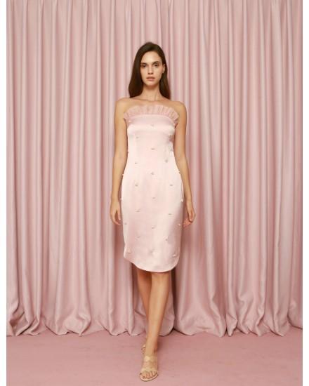 Algae Dress in Pink
