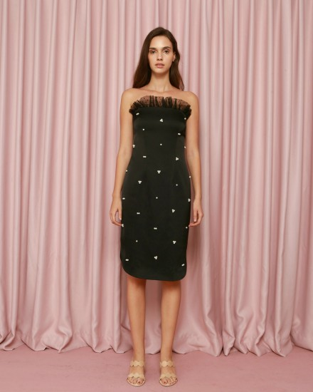 Algae Dress in Black