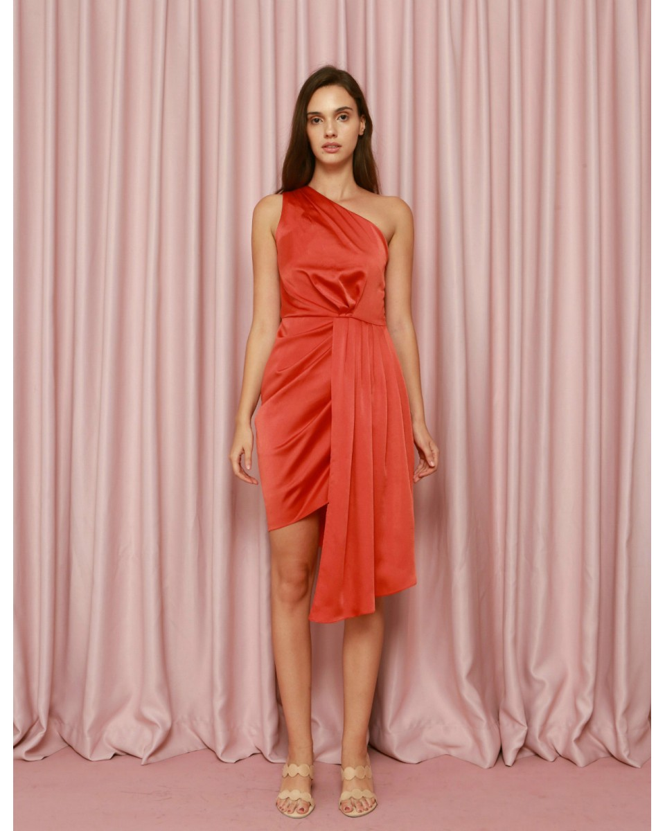 Armor Dress In Terracotta Cdc The Label