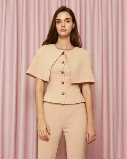 Elysian Top in Beige