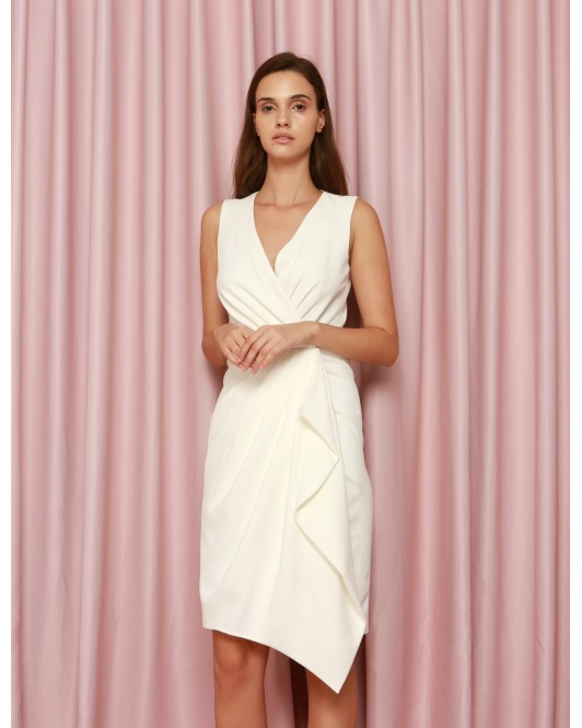Calvary Dress in White