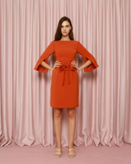 Serendipity Dress in Terracotta