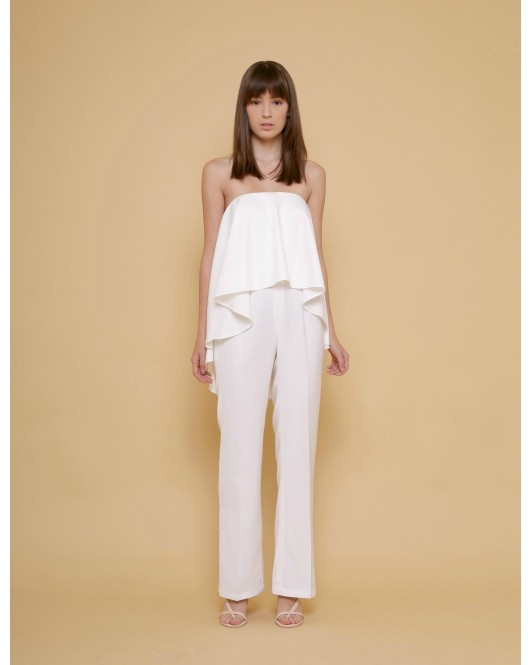 The Grace Jumpsuit in White